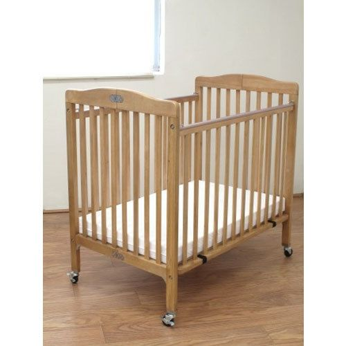 L A Baby Cw 883a The Little Wood Crib 24 X 38 Natural Mini Portable Folding With 3 Vinyl Covered Mattress