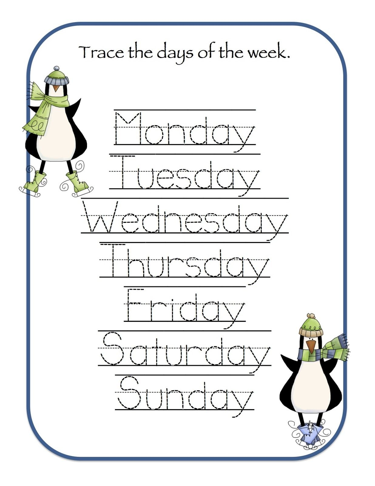 Preschool Printables Winter