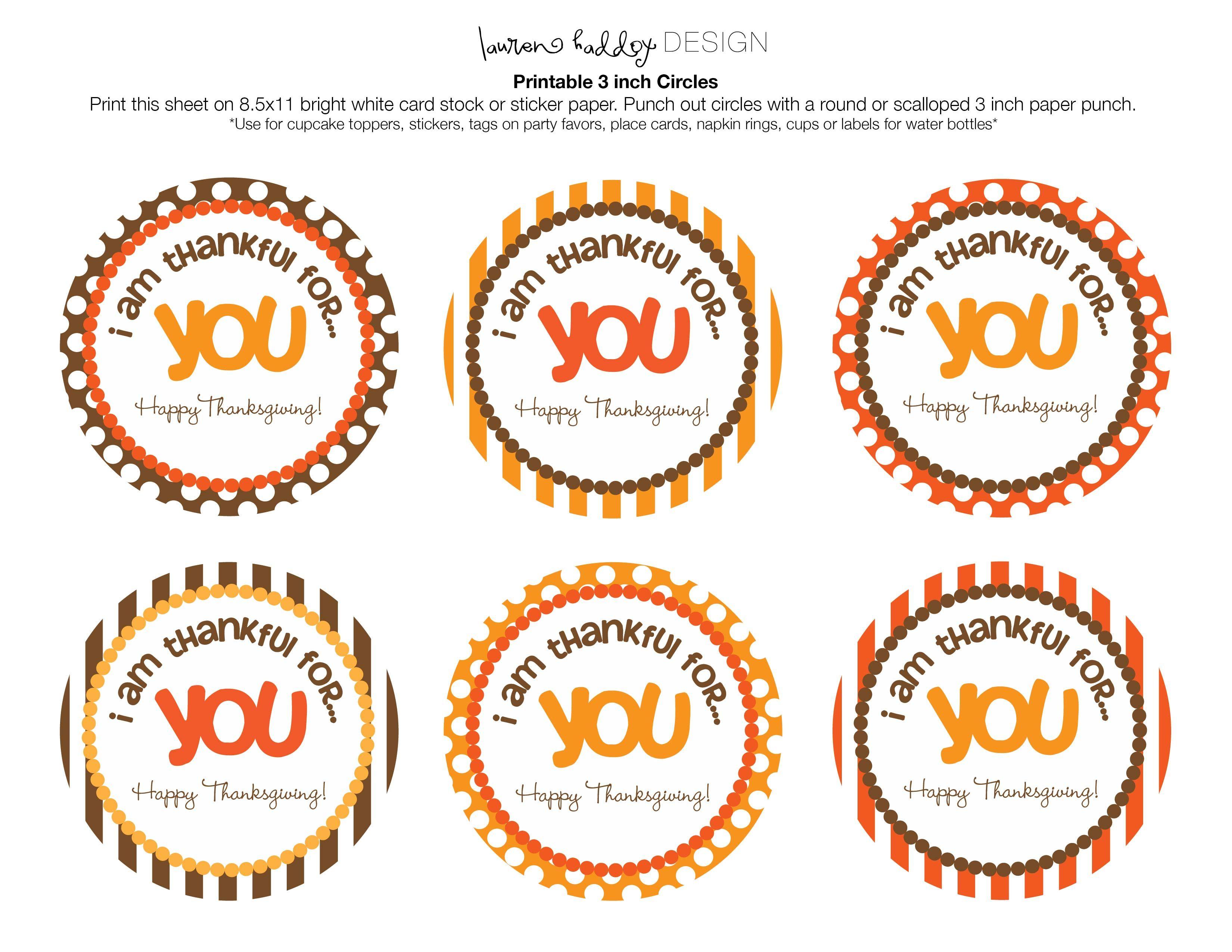 Printable Happy Thanksgiving Tags