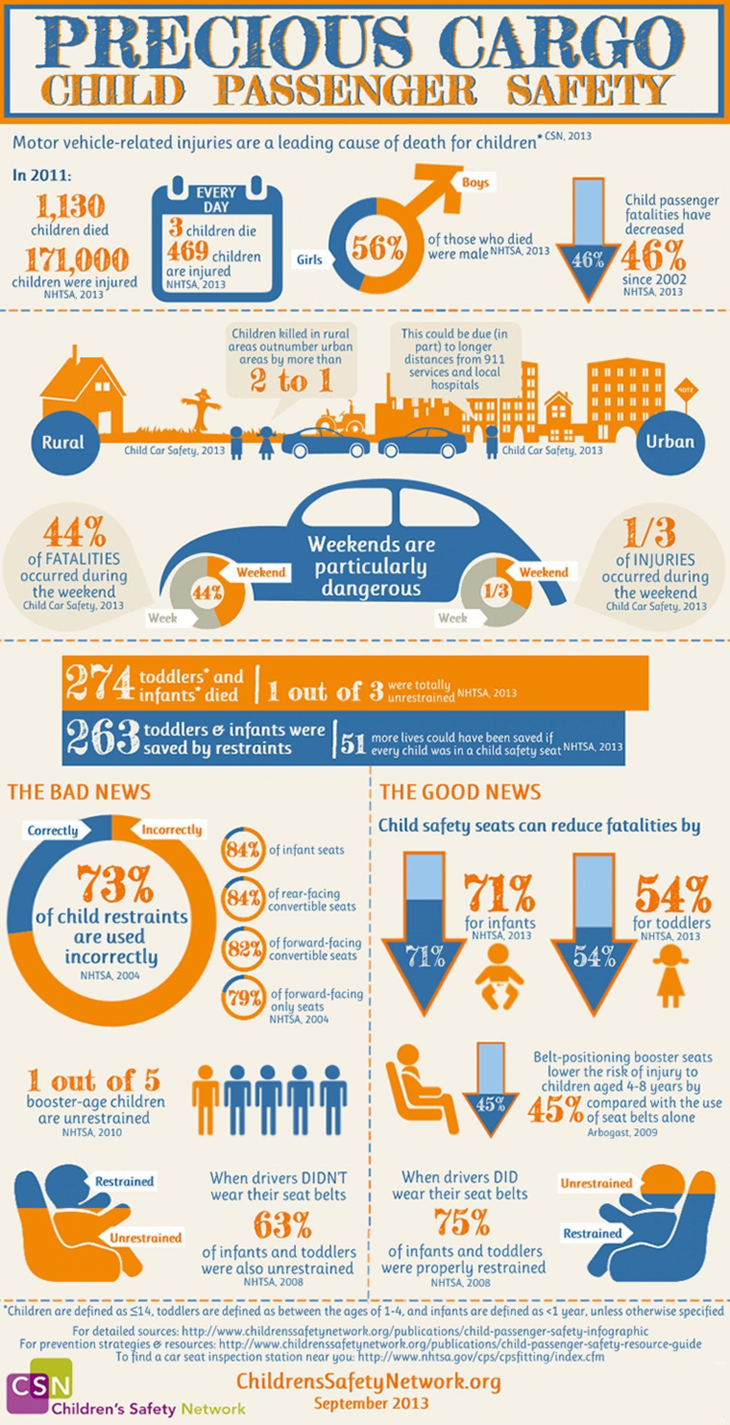Precious Cargo Child Passenger Safety Infographic