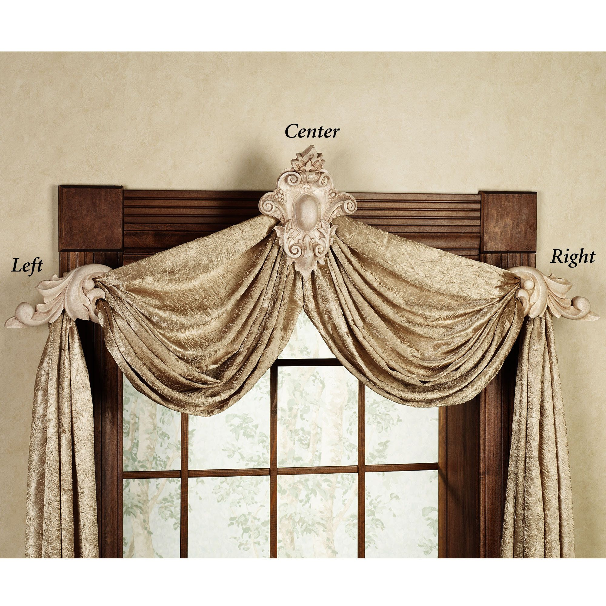 Swag Curtain Sconces