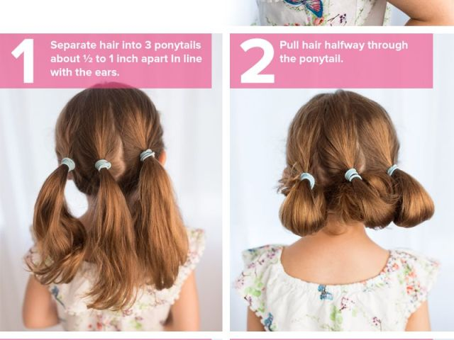 5 fast, easy, cute hairstyles for girls | low updo, updo and short