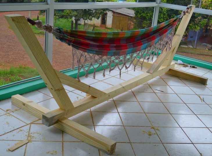 Hammock Stand Indoor u Outdoor woodworking wood hammock stand