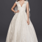 Wedding dresses ball gown lace  Oleg Cassini Petite Flater Drop Waist Ball Gown Bridal Dresses