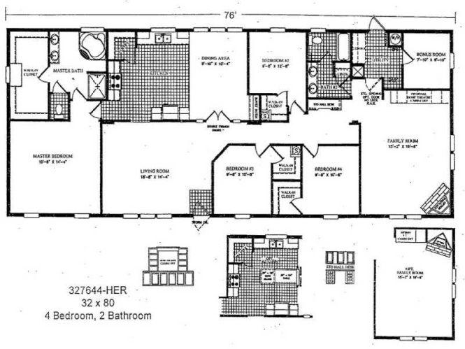 3 Bedroom Double Wide Mobile Home Floor Plans Http Modtopiastudio Com