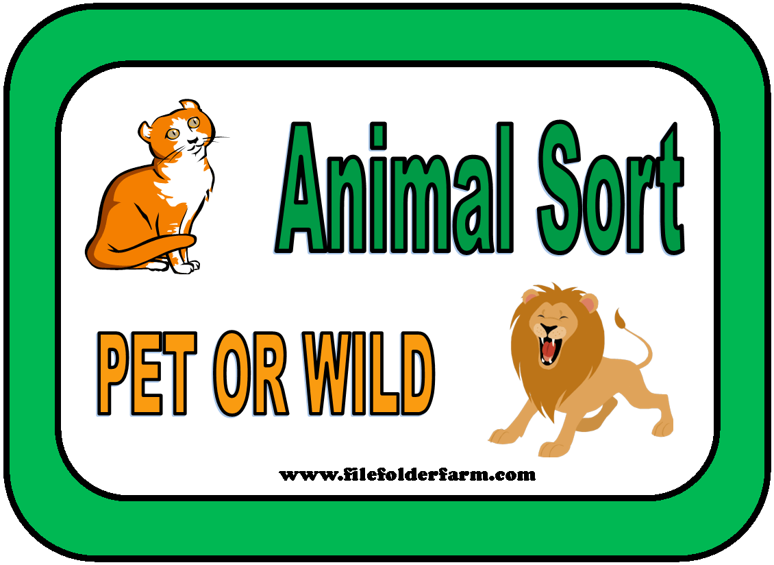 Free File Folder Animal Sort