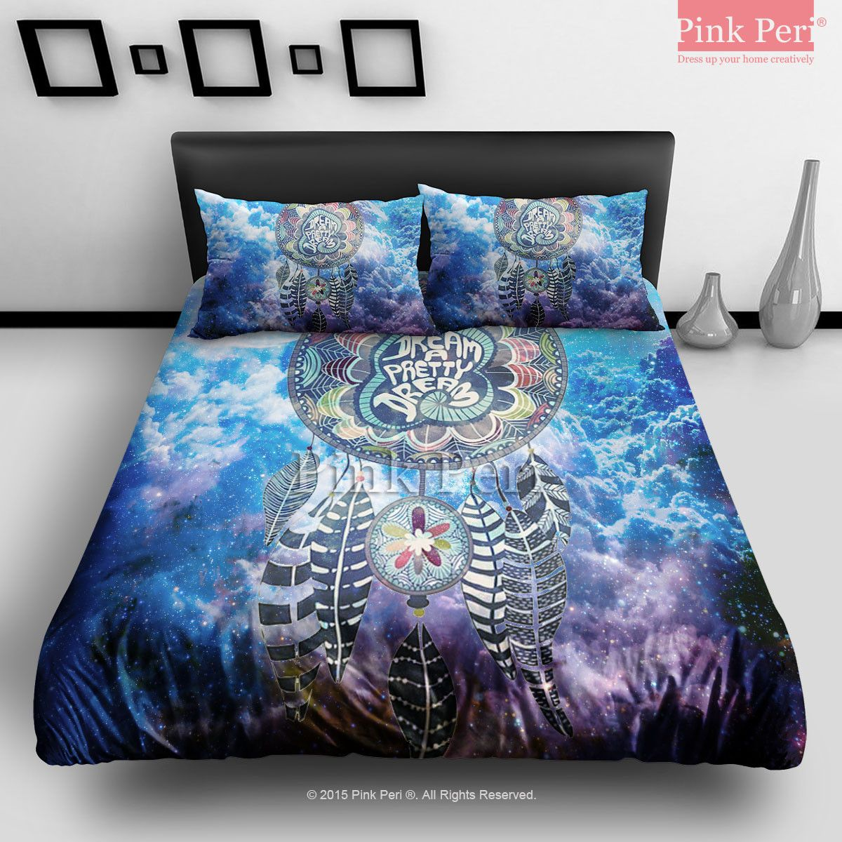 Dream Catcher On Nebula Galaxy Cloud Bedding Sets Home