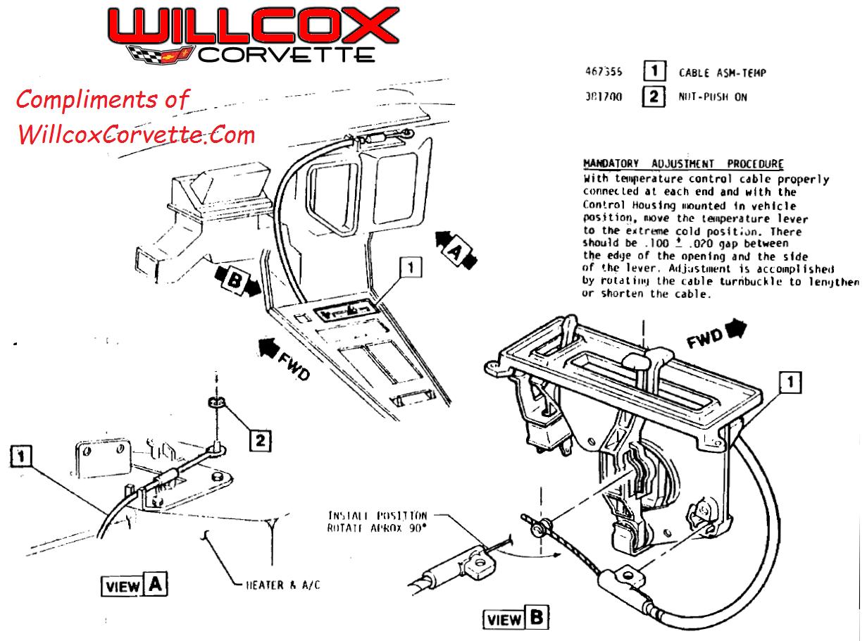 Corvette Heater Control Cable Adjustment Fuse