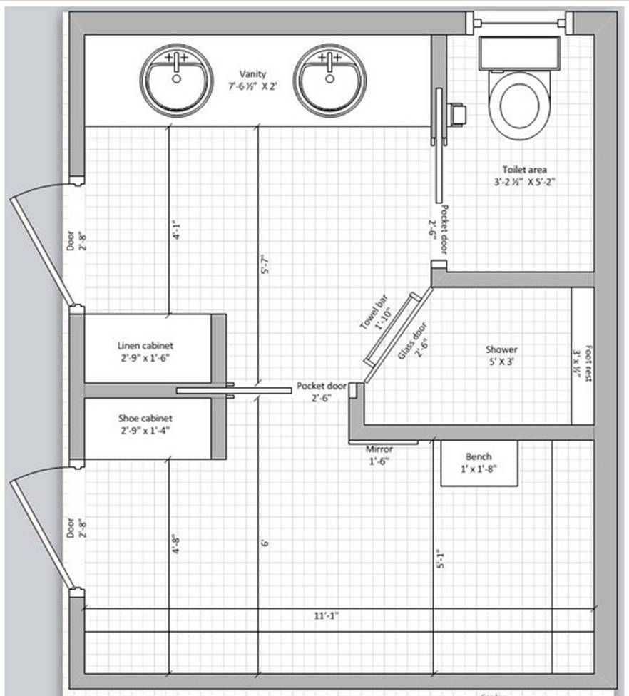 master bath and closet floor plan | archidesign | pinterest