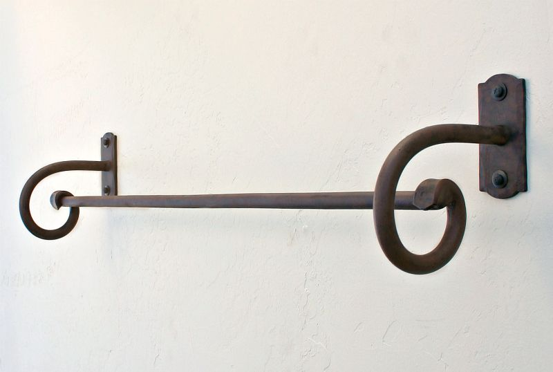 wrought iron towel bars, hooks, and racks our wrought iron towel