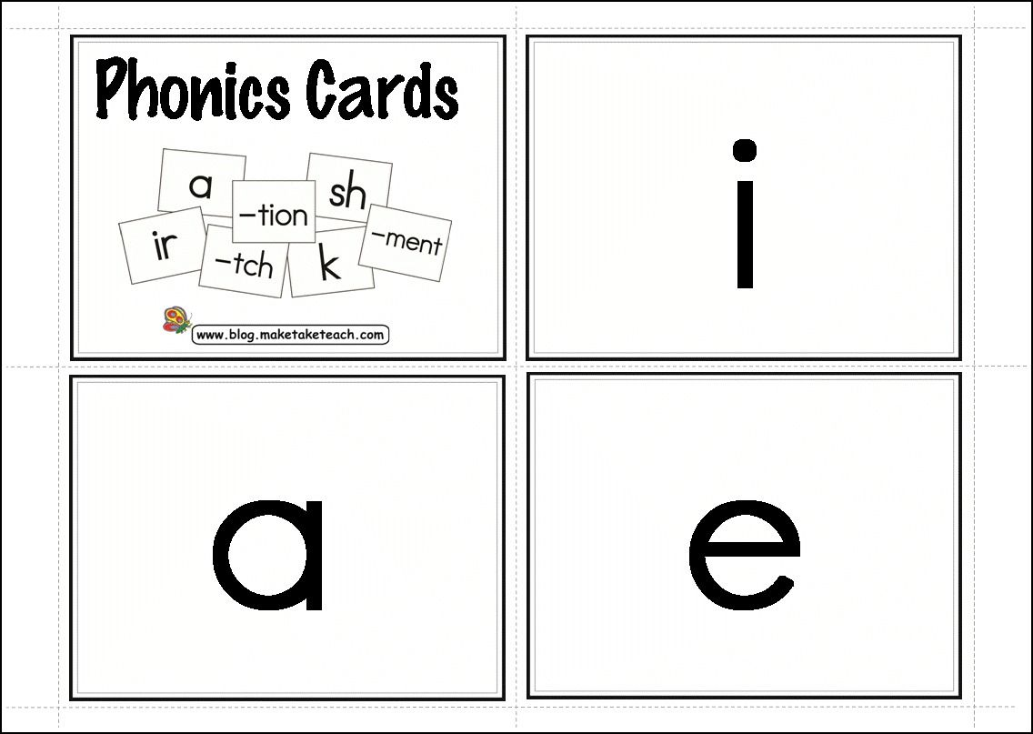 154 Free Phonics Cards Key Words On The Back Vowels