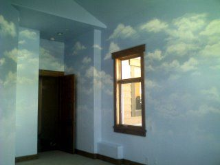 how to paint a realistic cloud mural wall and ceiling on wall cloud id=59175