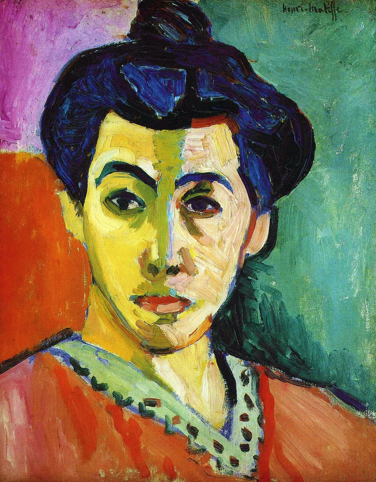 Henri Matisse La Raya Verde Madame Matisse