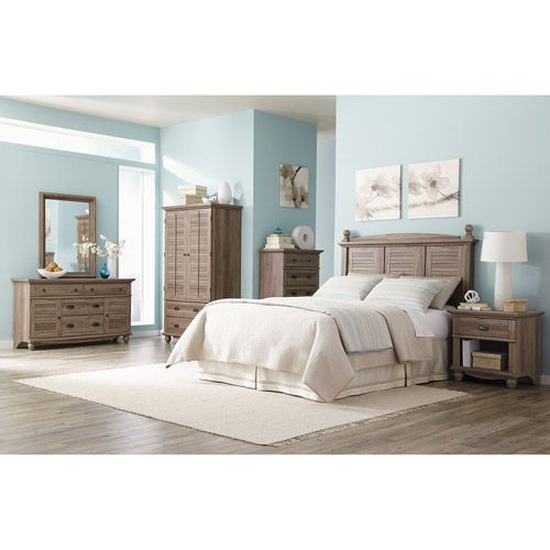 sauder harbor view 6-piece bedroom set, salt oak: furniture