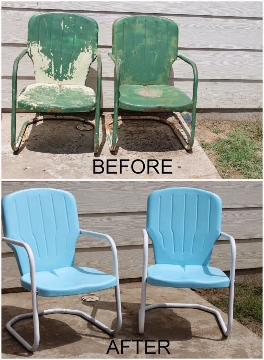 Repaint Old Metal Patio Chairs Diy Paint Outdoor Motel With Furniture How To And Decorate An In Formica