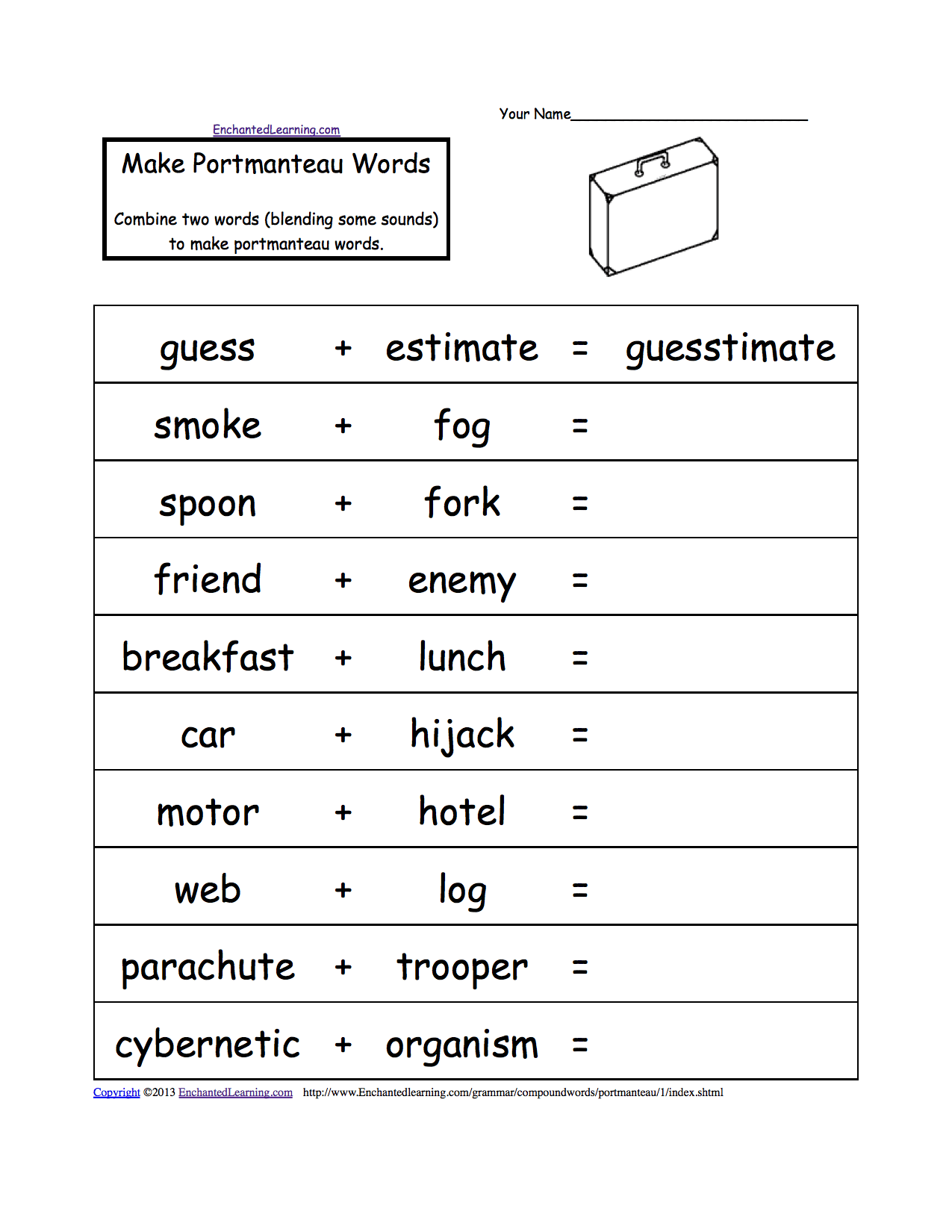 Great Alphabetical List Of Compound Words