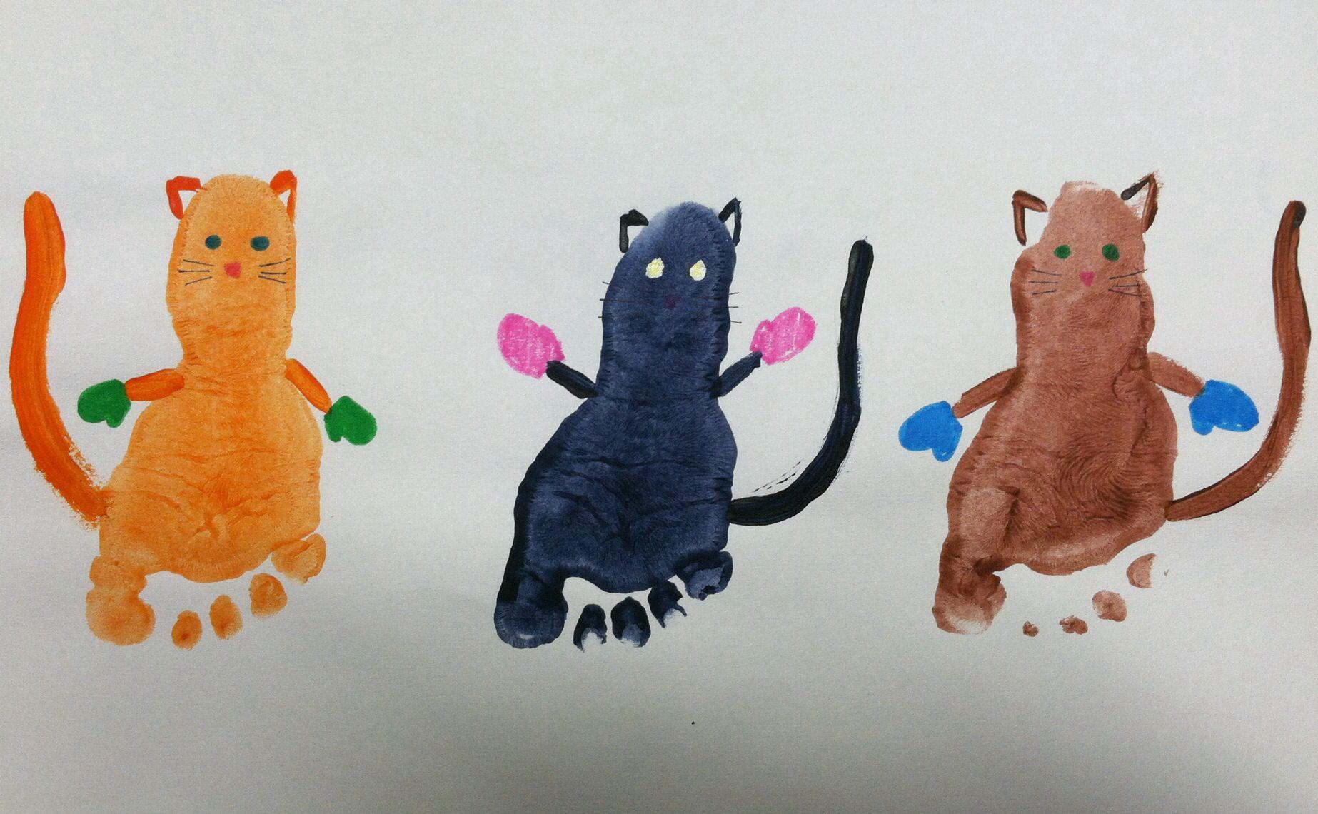 Foot Print Nursery Rhyme Art