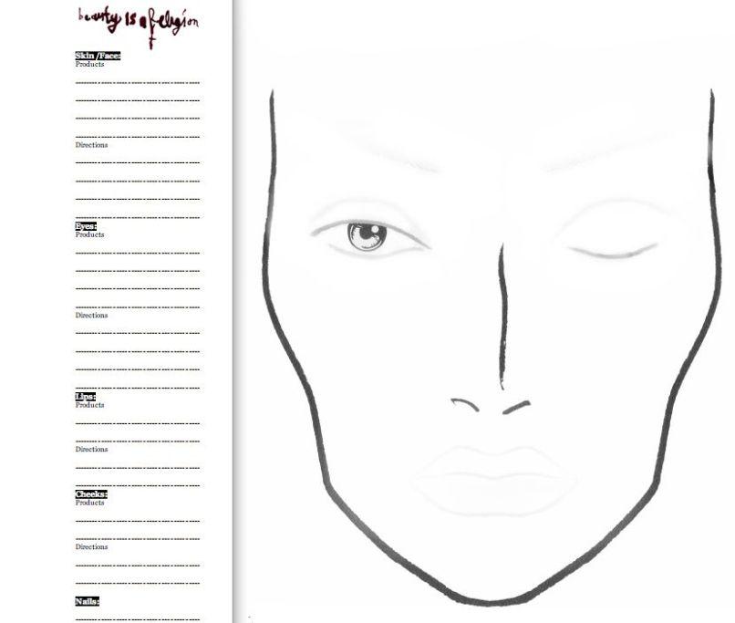 Mac Makeup Face Charts Free   Makeupview.co