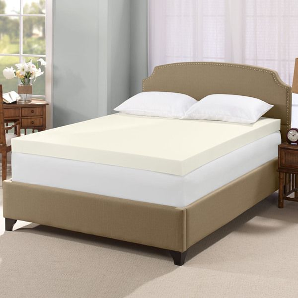 Enjoy A Restful Night S Sleep With This Memory Foam Mattress Topper From Serta Constructed Of High Density Will Cradle