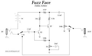 Fuzz face: Guitar effects pedals schematics | Electronic