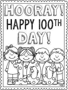 Add This Cute Coloring Page To Your List Of Activities On The 100th Day School