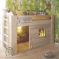 Camo loft bed with slide  I wouldnut have the camo would be pretty greens and grays with