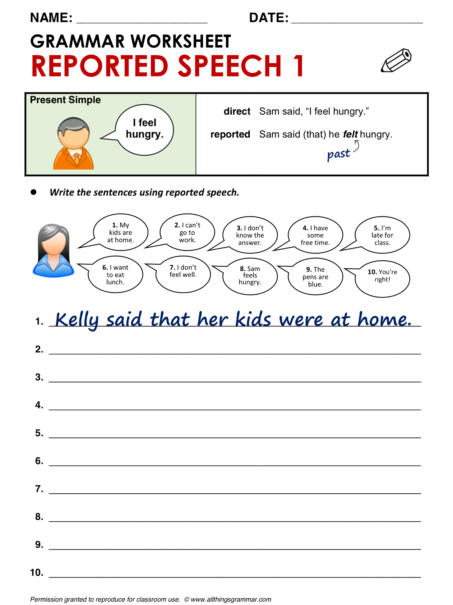 Simple Present Tense Worksheet Advanced