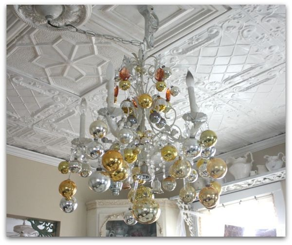 How To Decorate Your Chandelier For Christmas