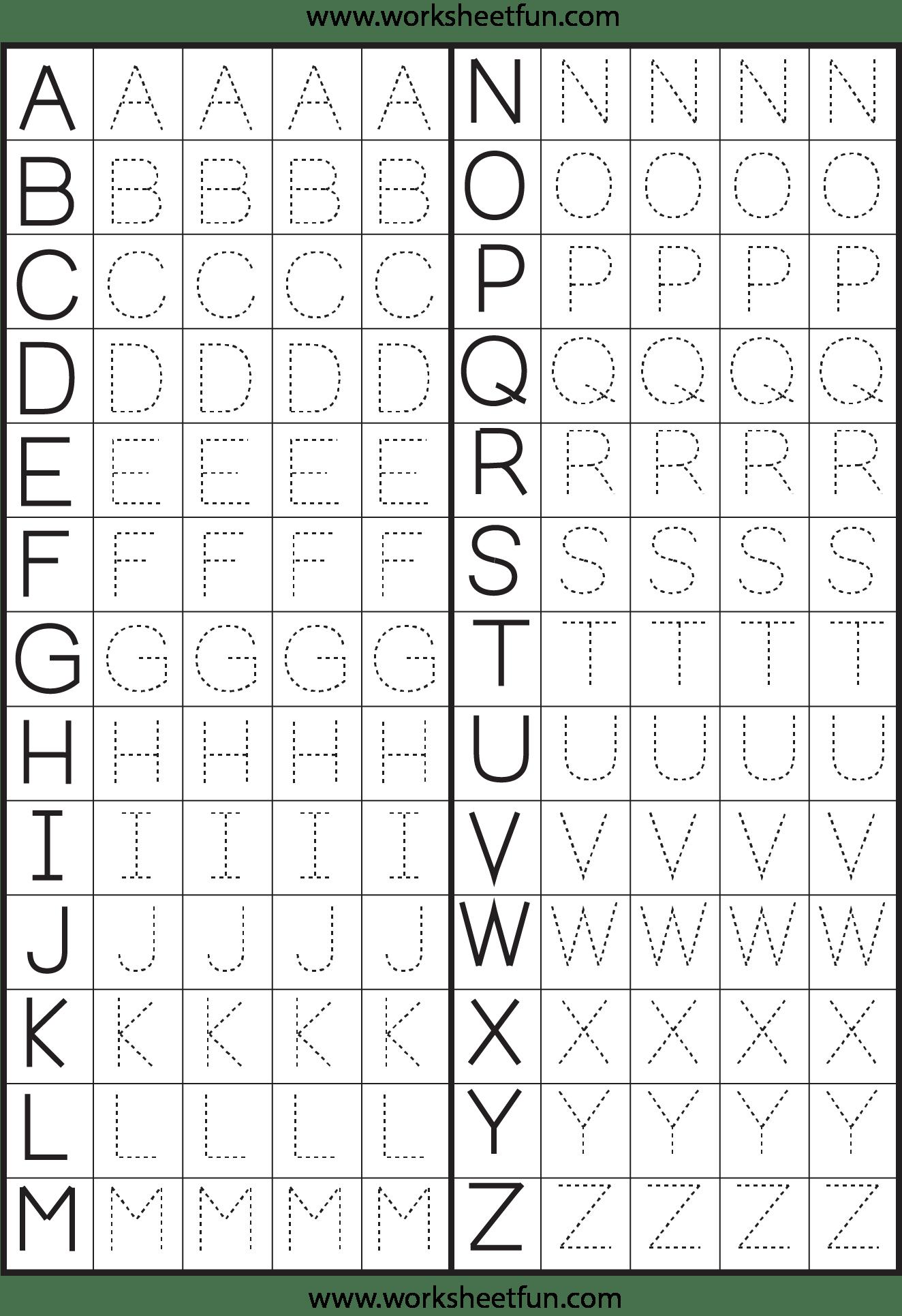 Make A Printable Alphabet Letter Tracing Worksheets