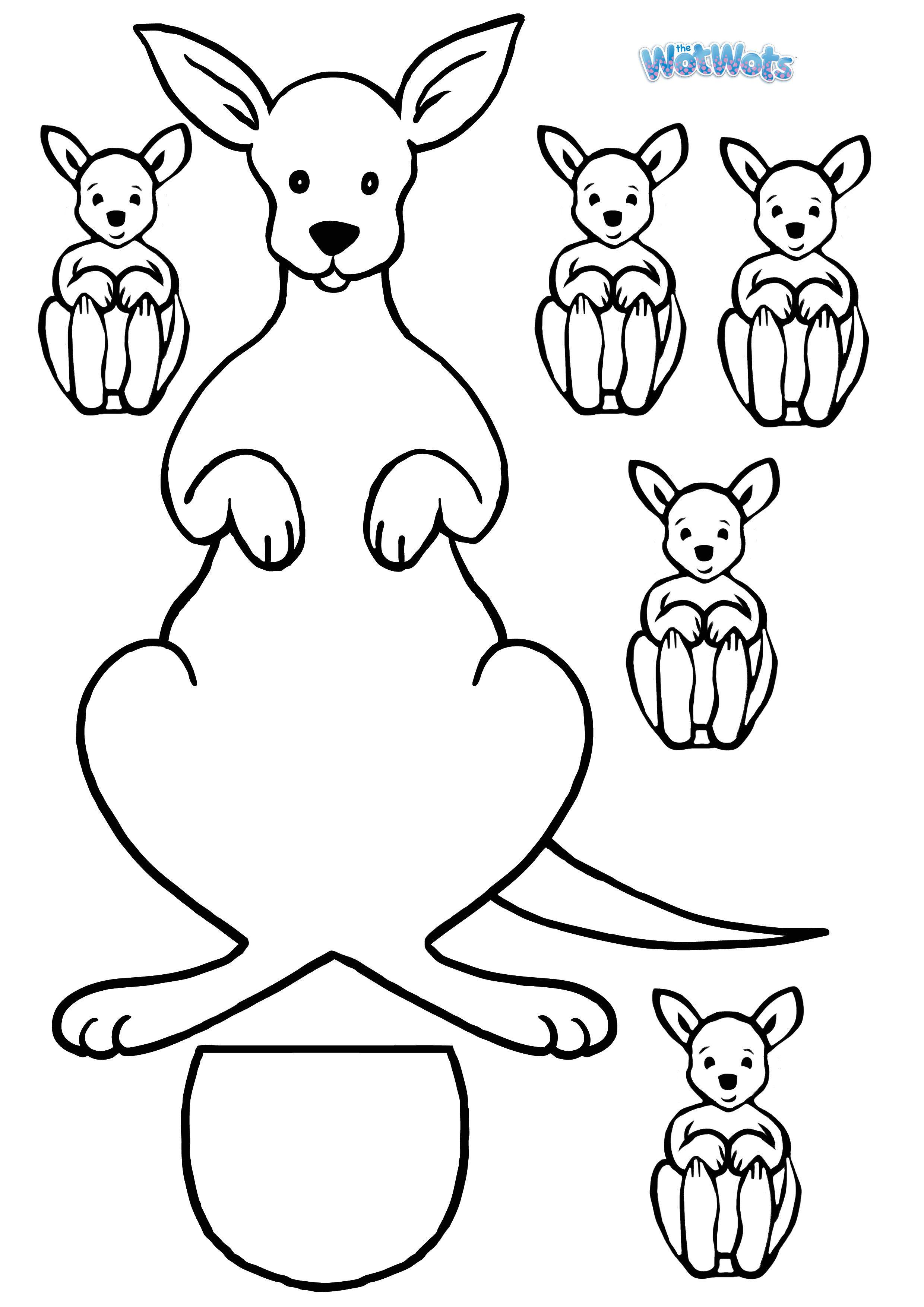 Kangaroo Template Logo