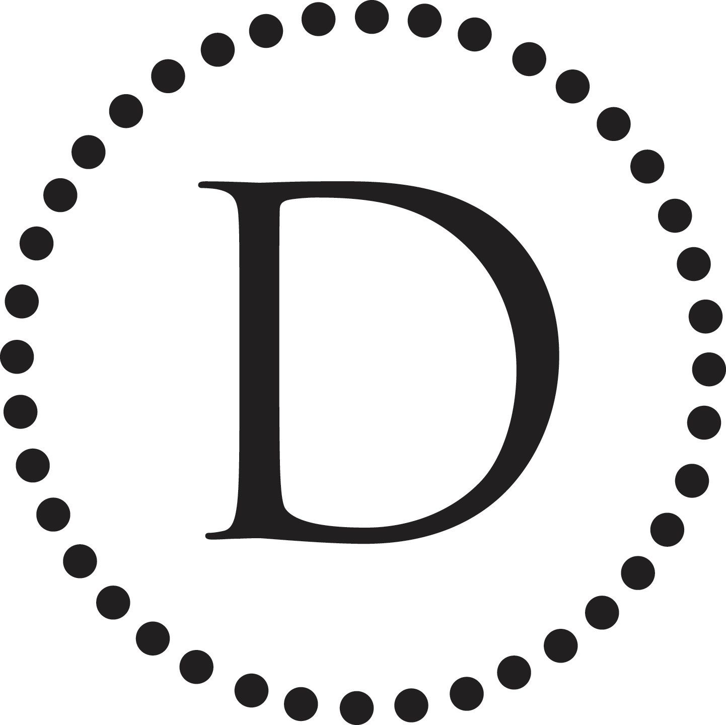 Dotted Circle Initial