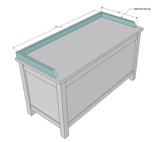 Ana white build a simple modern toy box with lid free