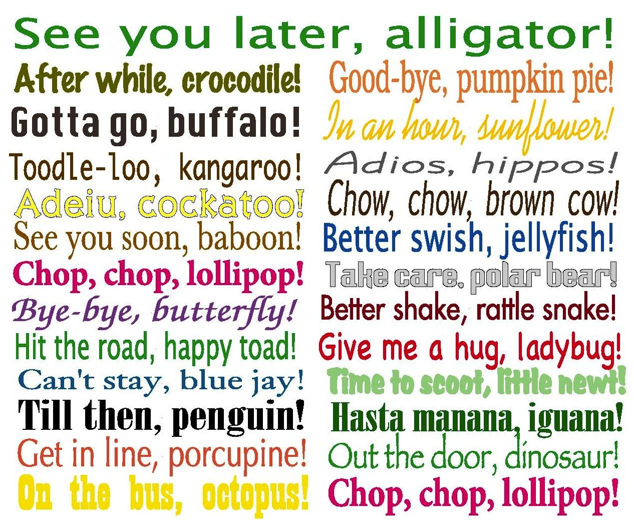 New Things To Tell Kids At School Personal Favorite Give