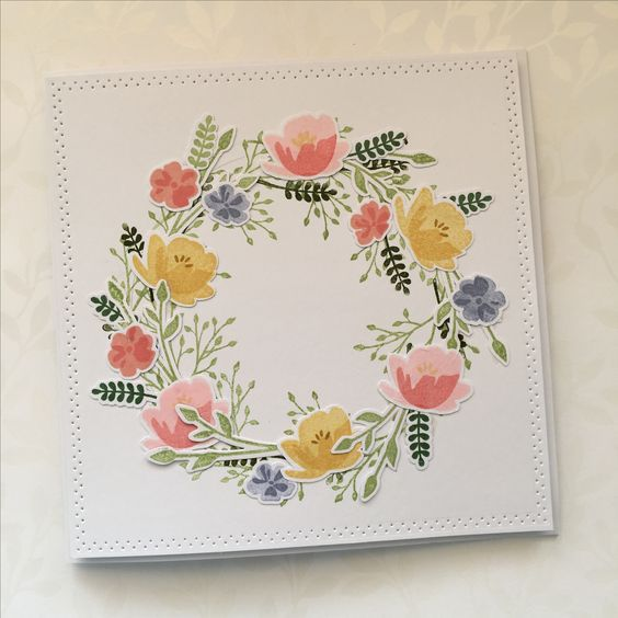 handmade greeting card featuring a wreath created with Jar ...
