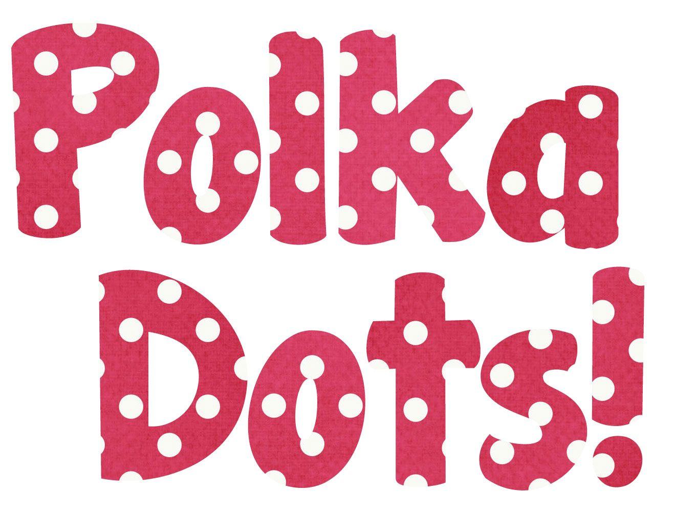 Free Dark Pink Polka Dot Bubble Letter Alphabet Graphics