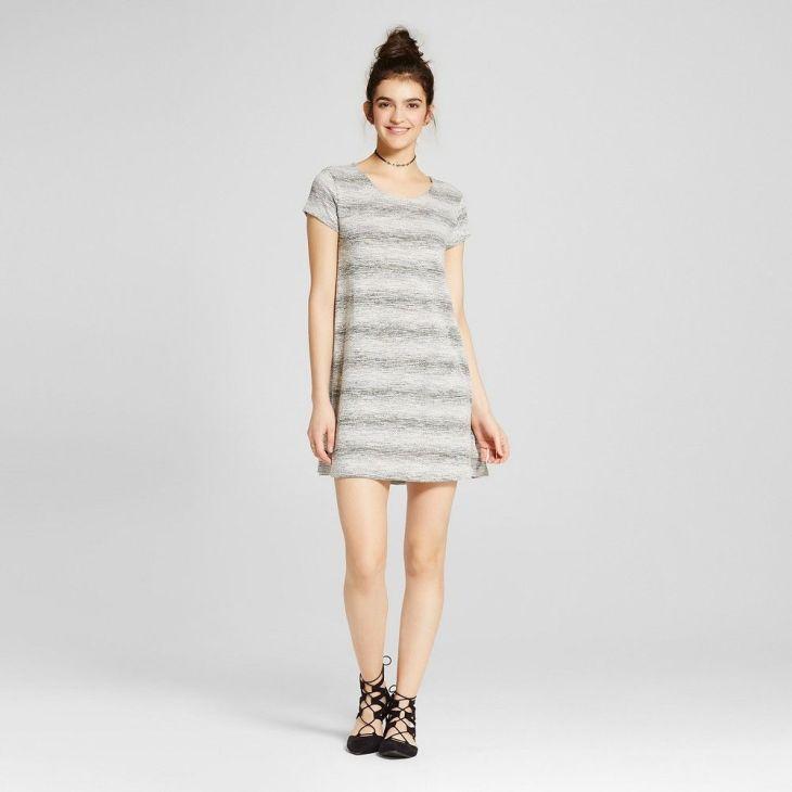 Womenus TShirt Dresses BlackWhite XL Mossimo Supply Co Products