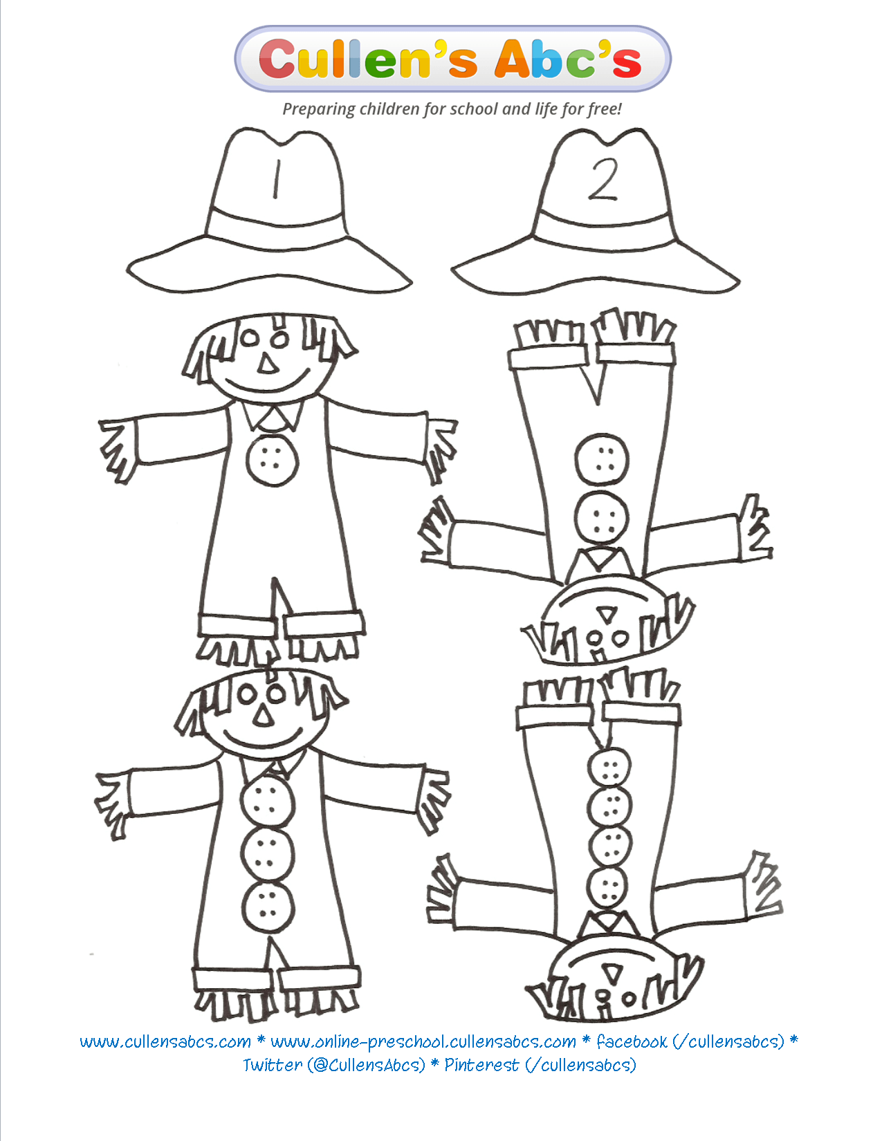 Scarecrow Matching Game Is A Great Way To Work On Counting One To One Correspondence And Number
