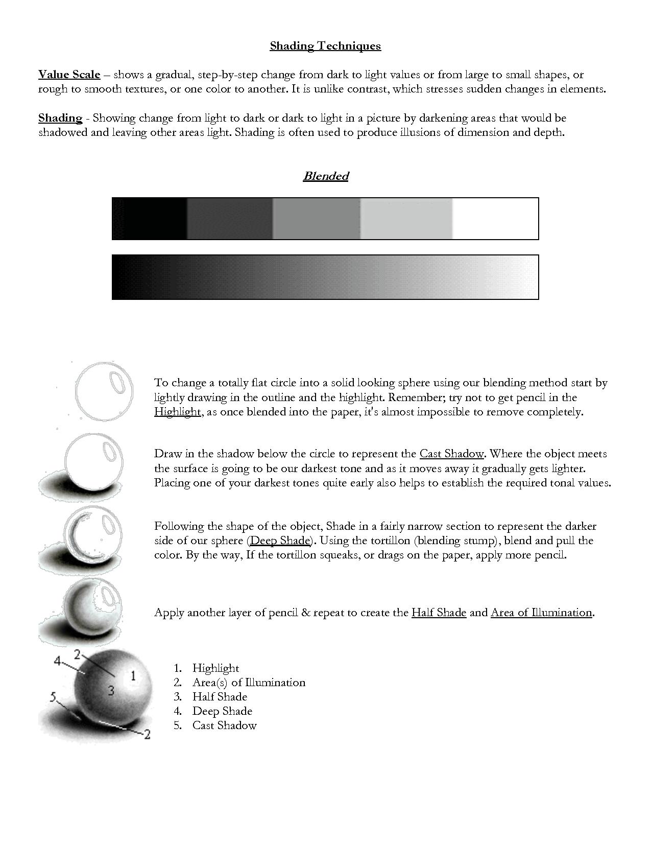 Tone Value Worksheet