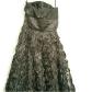 White house black market prom dress black size beautiful strapless