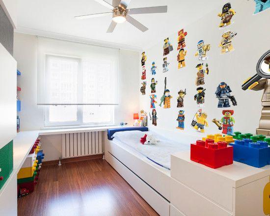 Wonderful Kids Room With Lego Storage Cube : Modern Kids