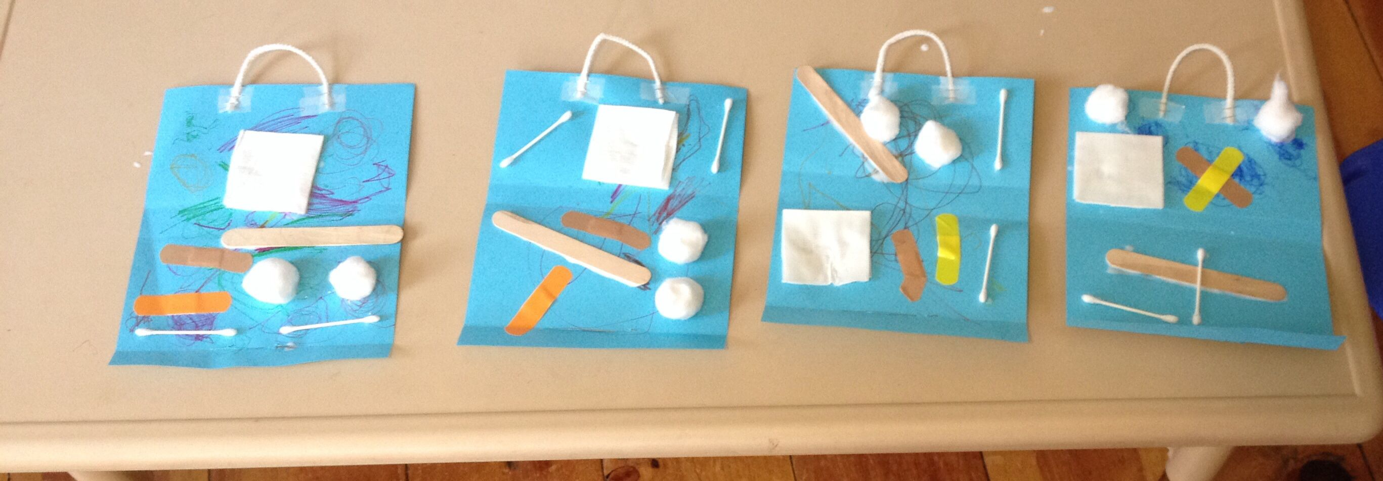 Preschool Craft Doctor Bags Using Real First Aid