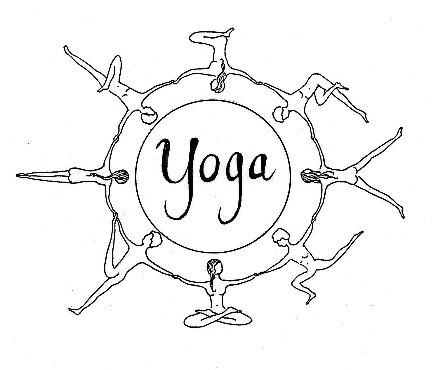 Kids Yoga Pose Coloring Pages Sketch Coloring Page