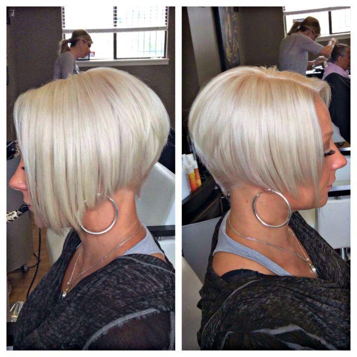 Kayla Nicole s Styles Platinum blonde undercut bob haircut