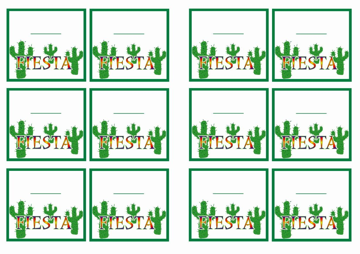 Free Printable Fiesta Mexican Themed Name Tags Themed Name Tags
