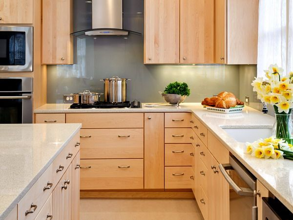 THE COMPROMISE Mable cabinets with Different Color Back ... on Kitchen Backsplash With Natural Maple Cabinets  id=61523