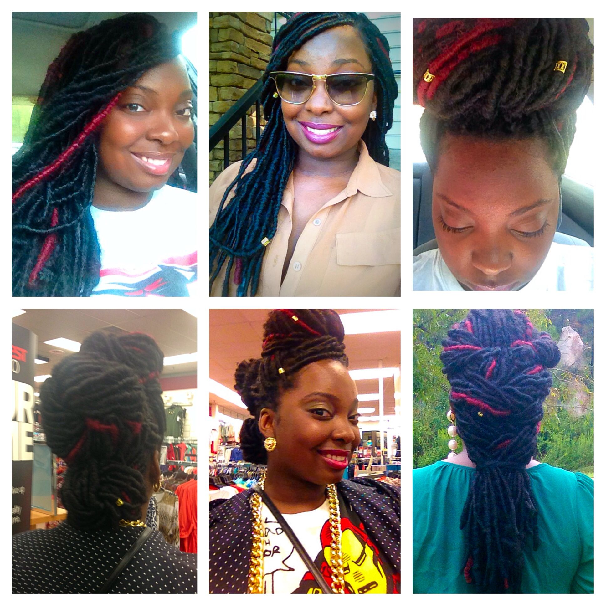 Locs faux locs hair natural protective style Locs by Nikki