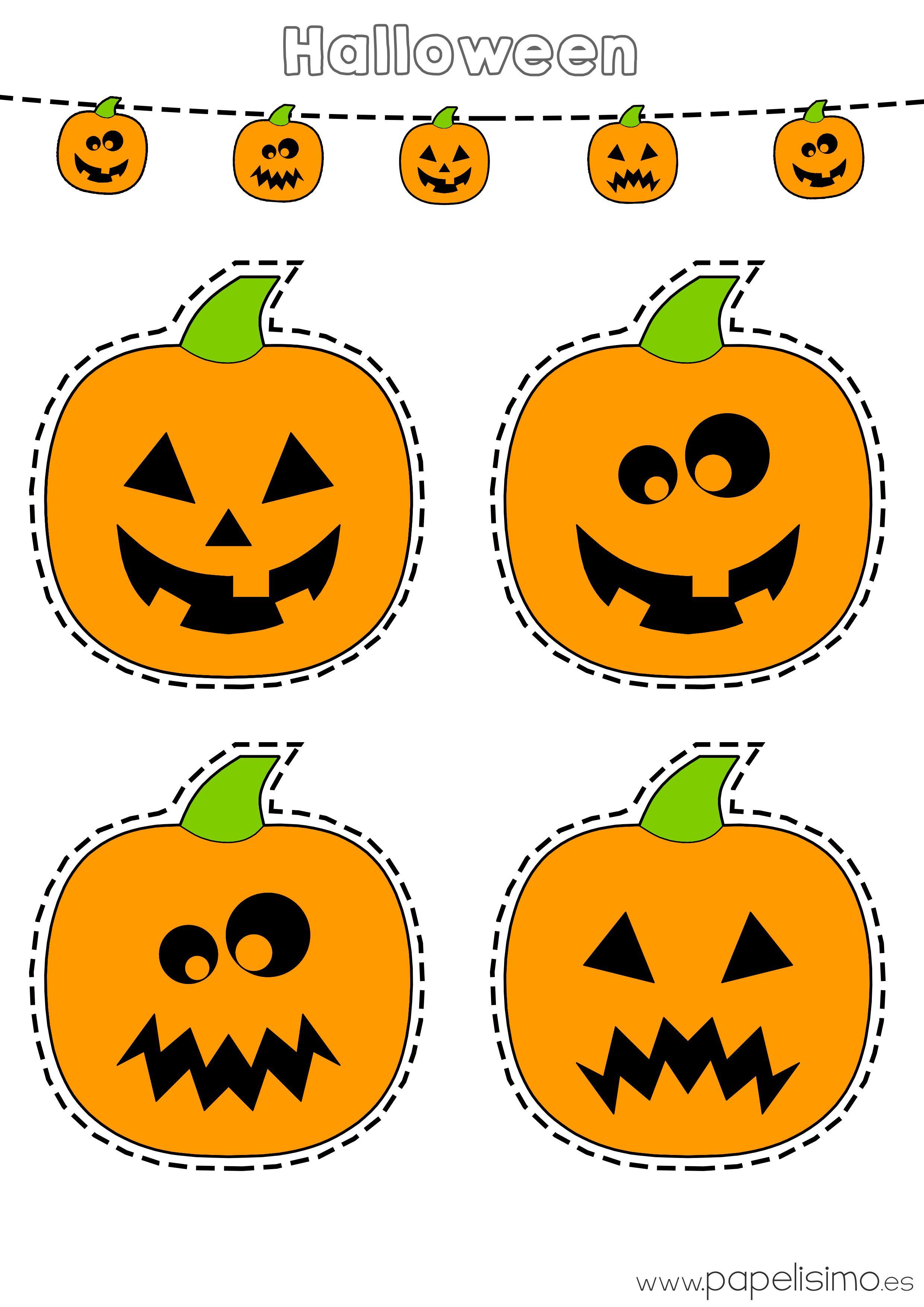 Descarga Gratis Dos Laminas De Calabazas De Halloween Calabazas Coloreadas Para Imprimir