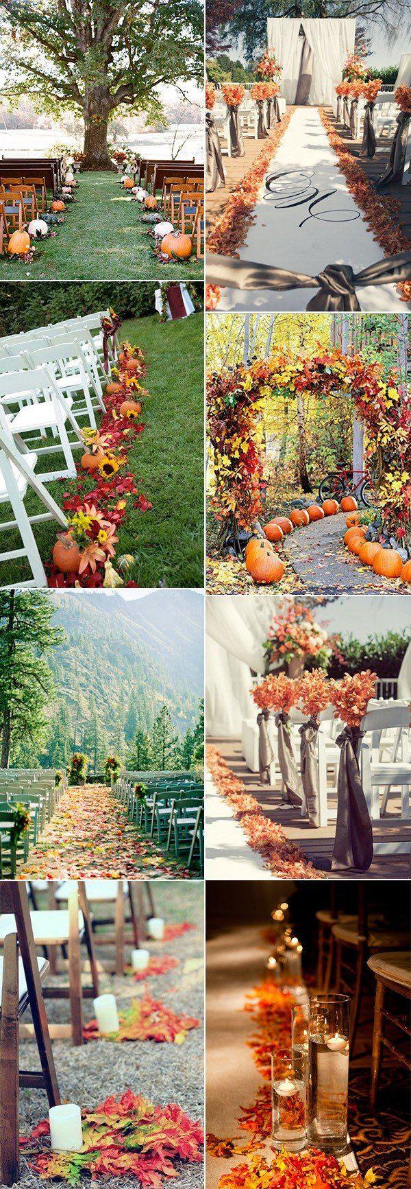 Amazing Fall Wedding Ideas for   Decoration Weddings and