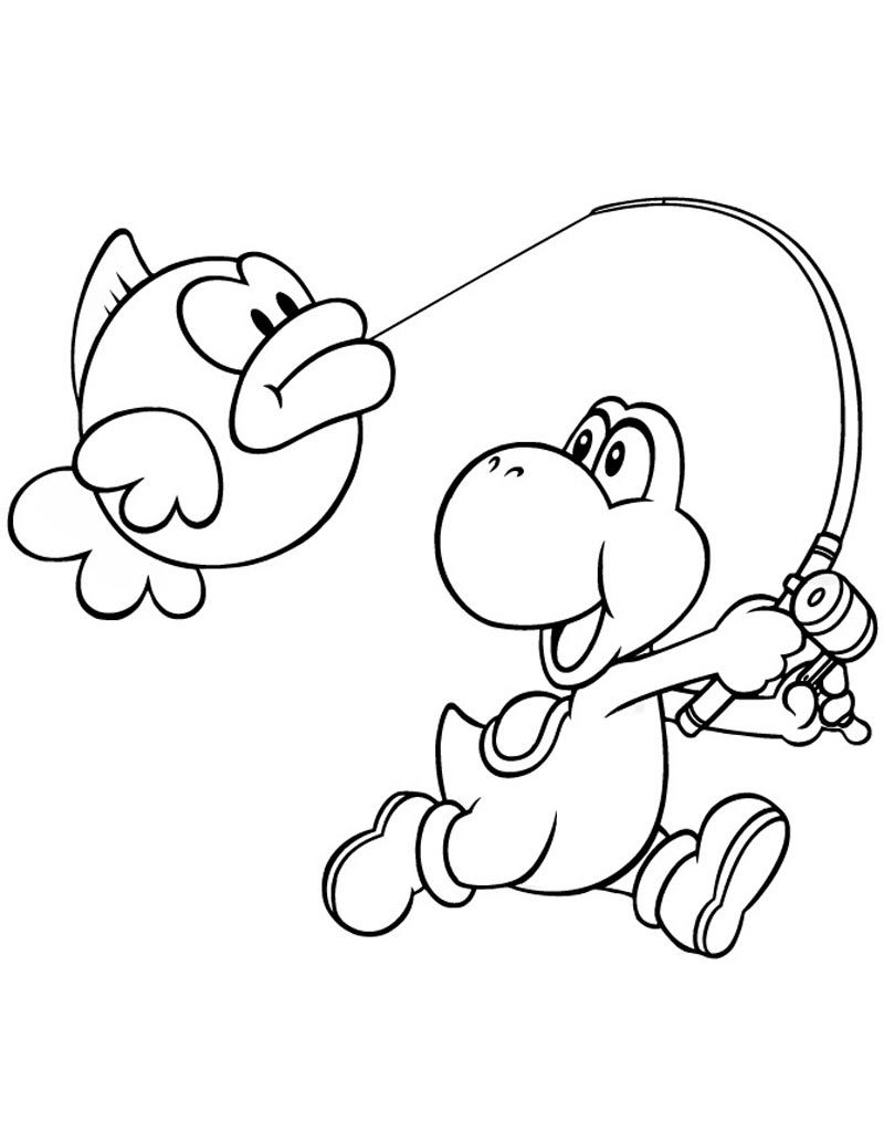 Yoshi Coloring Pages For Kids Mario Party Pinterest Yoshi