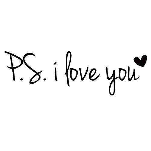 Download Amazon.com: PS I Love You Vinyl Love Saying Love Wall ...